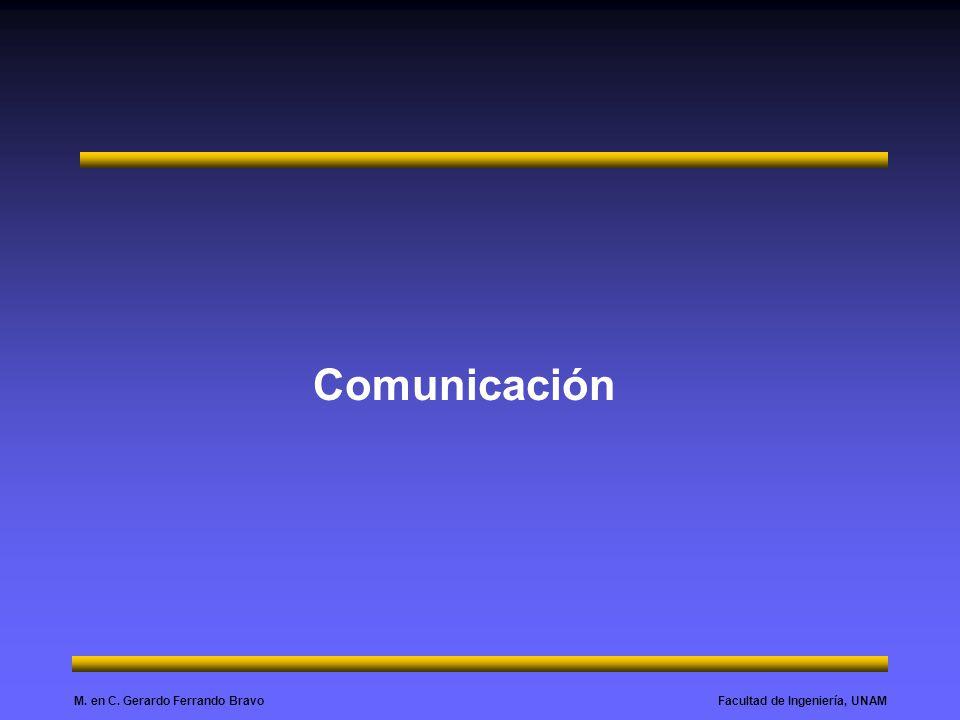 Facultad de Ingeniería, UNAMM. en C. Gerardo Ferrando Bravo Comunicación