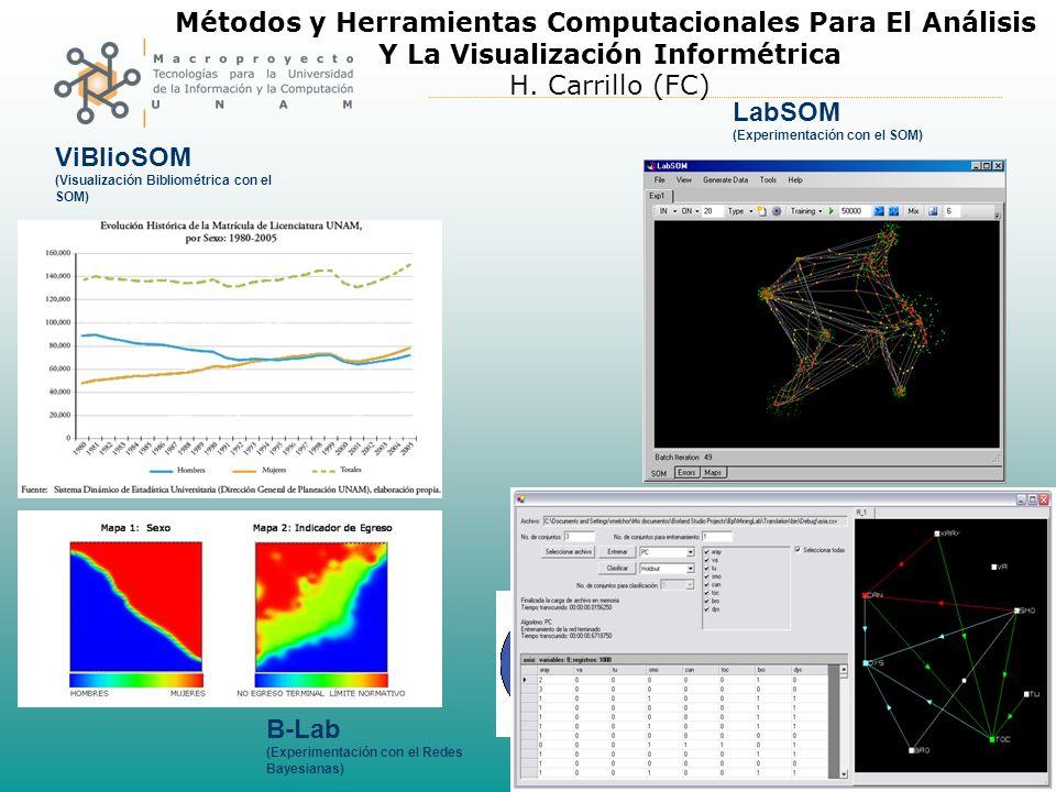 Métodos y Herramientas Computacionales Para El Análisis Y La Visualización Informétrica H.