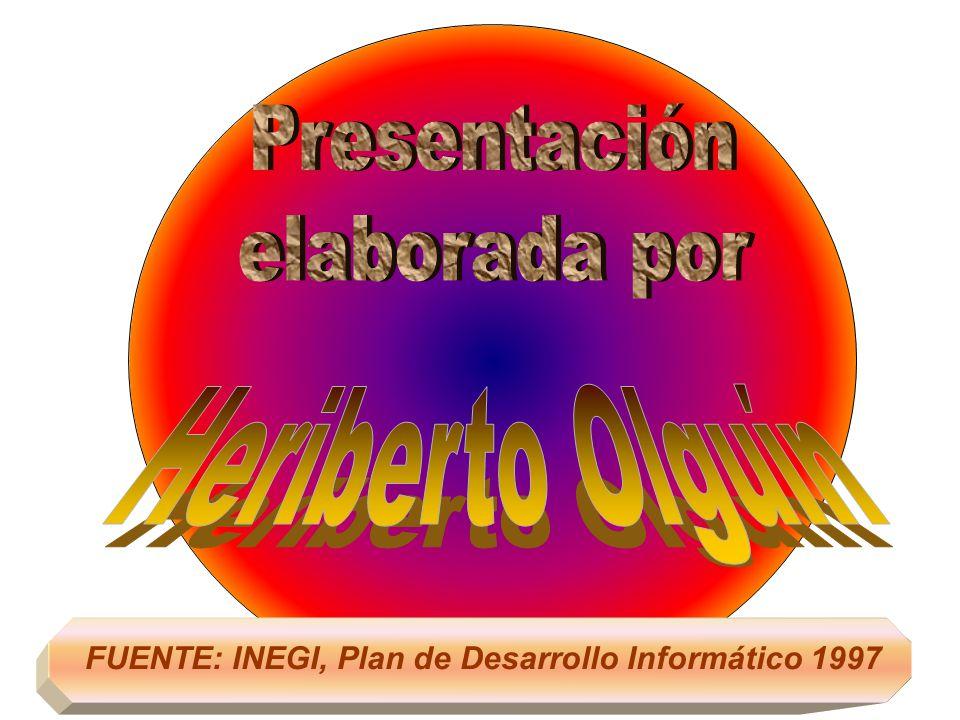 Plan Nacional de Desarrollo 1995 – 2000 PROGRAMA DE DESARROLLO INFORMÁTICO RESUMEN DEL DIAGNÓSTICOPRINCIPALES ACCIONES 1 Heriberto Olguín Agosto 1997