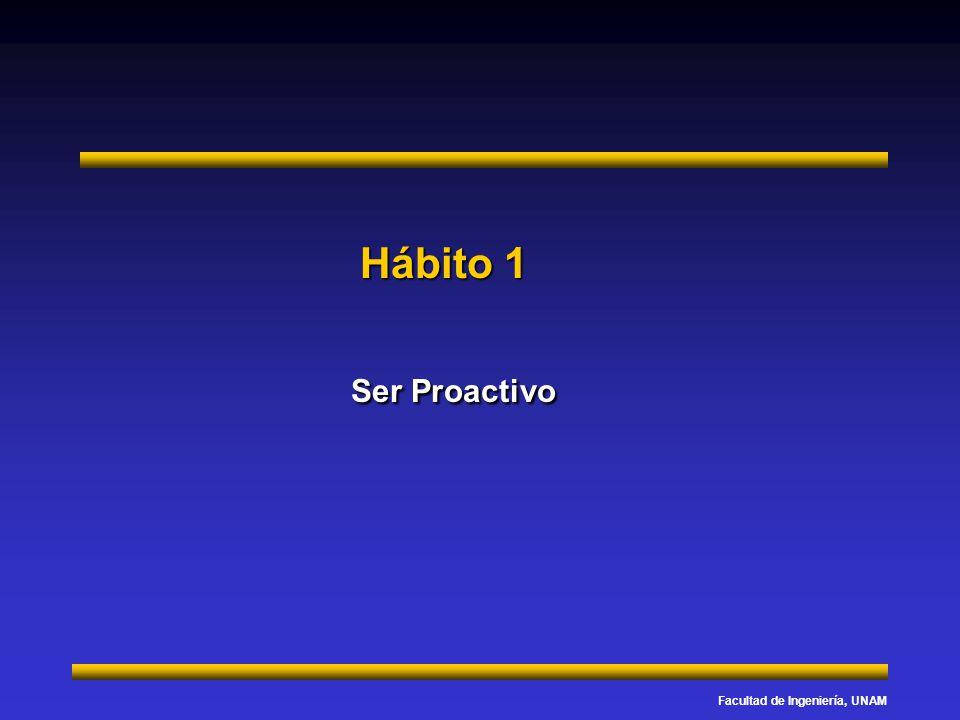 Facultad de Ingeniería, UNAM Hábito 1 Ser Proactivo