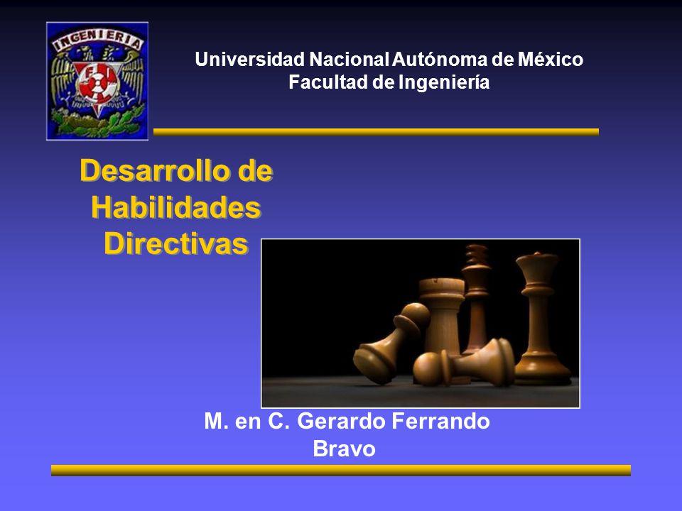 Universidad Nacional Autónoma de México Facultad de Ingeniería M.