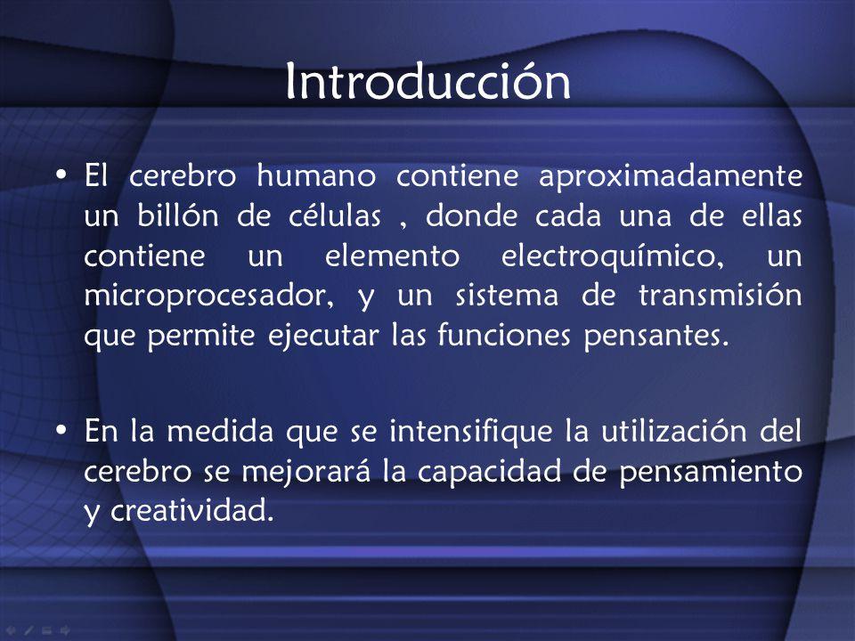 Introducción El cerebro humano contiene aproximadamente un billón de células, donde cada una de ellas contiene un elemento electroquímico, un micropro