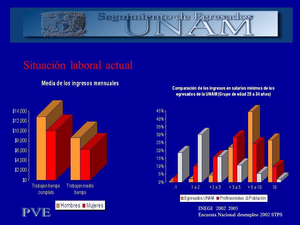 Situación laboral actual INEGI 2002 2005 Encuesta Nacional desempleo 2002 STPS