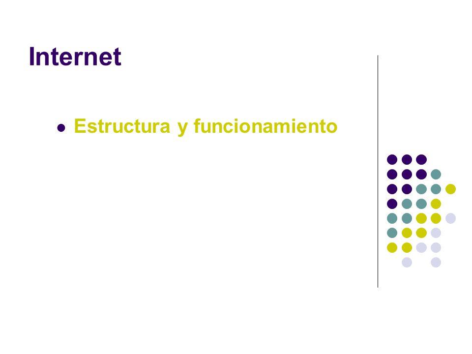 Internet Estructura y funcionamiento