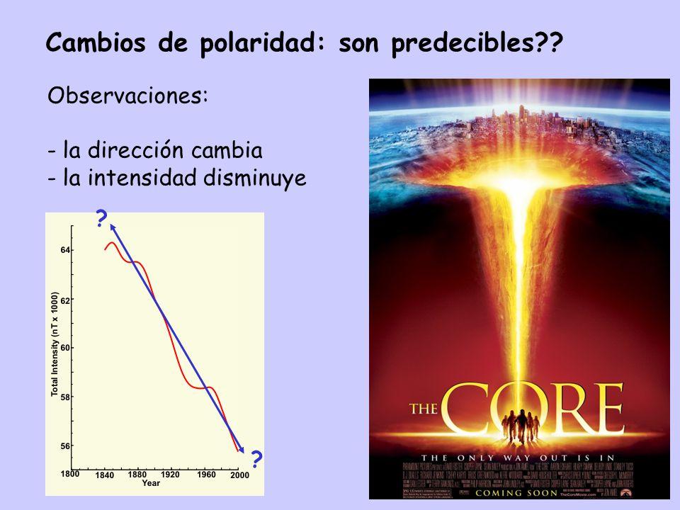 Cambios de polaridad: son predecibles?.