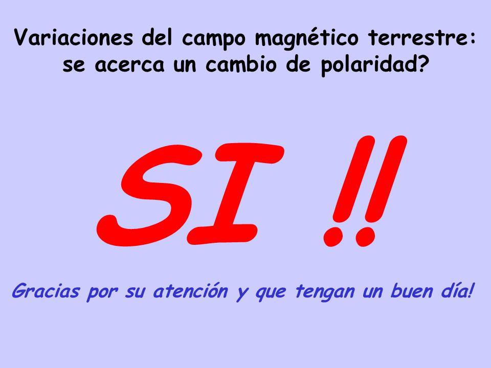 Variaciones del campo magnético terrestre: se acerca un cambio de polaridad.