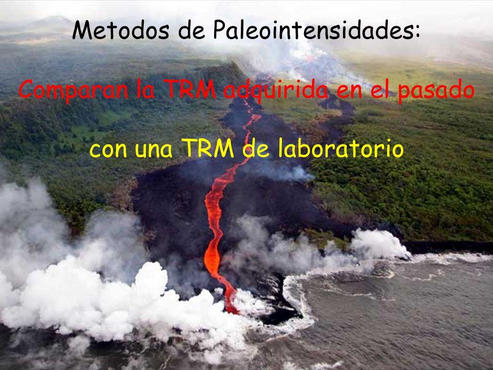 Metodos de Paleointensidades: Comparan la TRM adquirida en el pasado con una TRM de laboratorio