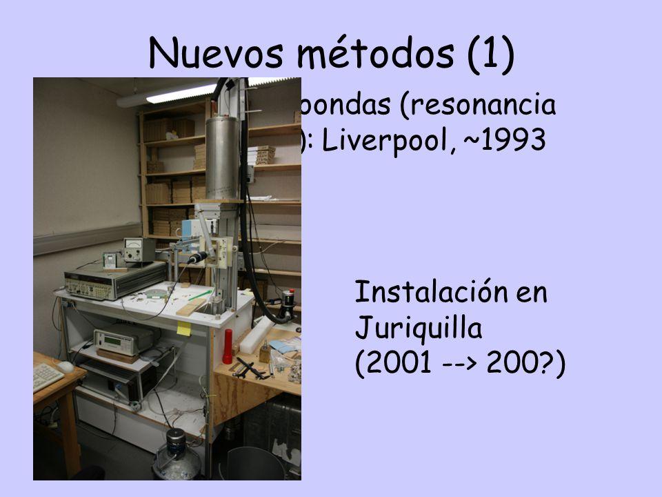 Nuevos métodos (1) Método de microondas (resonancia ferromagnética): Liverpool, ~1993 Instalación en Juriquilla (2001 --> 200?)