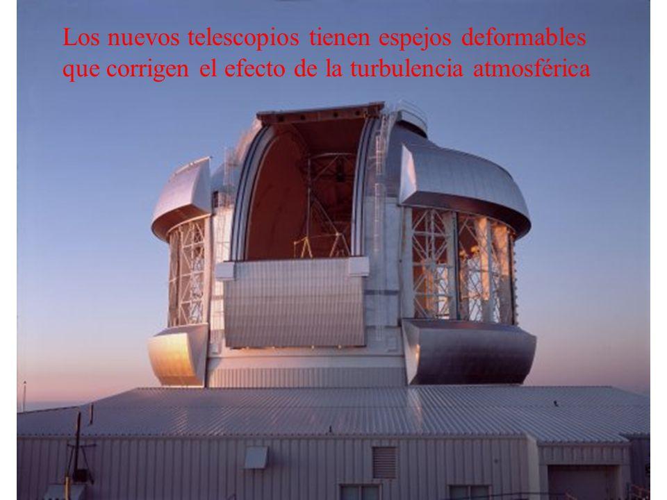Los nuevos telescopios tienen espejos deformables que corrigen el efecto de la turbulencia atmosférica