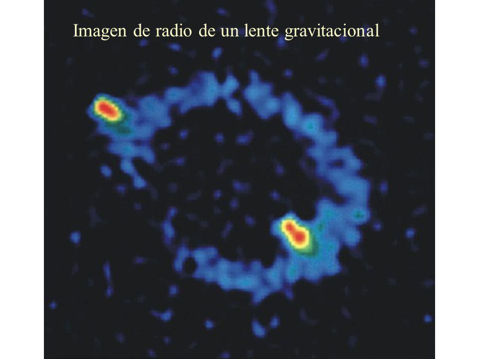 Imagen de radio de un lente gravitacional