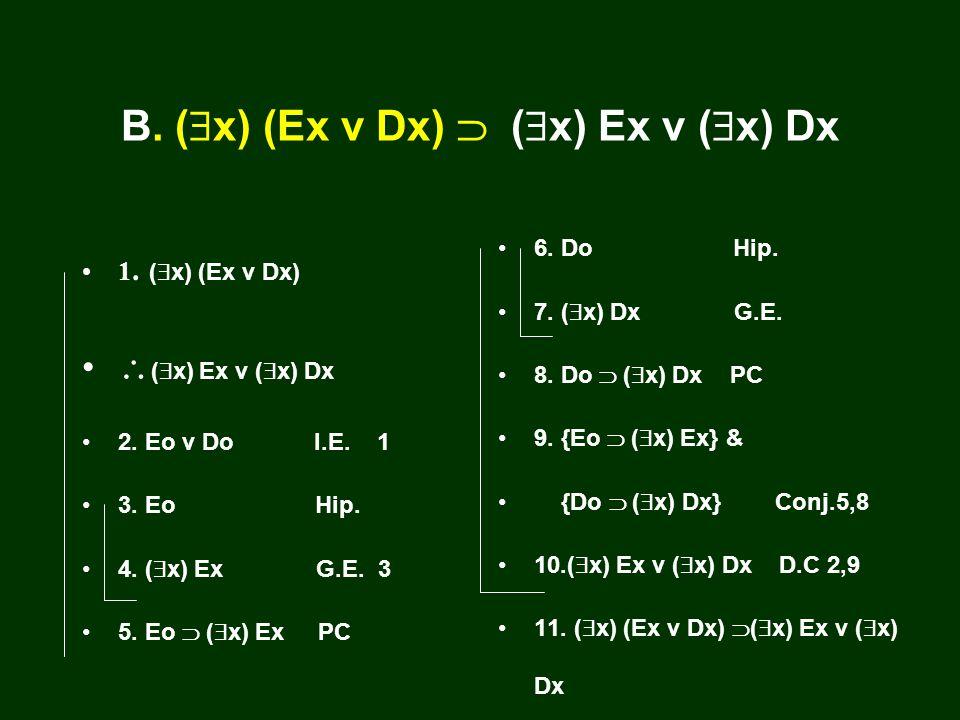 A. ( x) Ex v ( x) Dx ( x) (Ex v Dx) 1. ( x) Ex v ( x) Dx ( x) (Ex v Dx) 2.