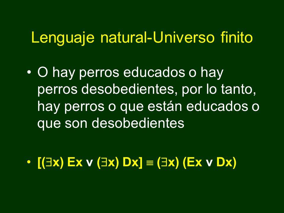 B.( x) (Ex v Dx) ( x) Ex v ( x) Dx 1. ( x) (Ex v Dx) ( x) Ex v ( x) Dx 2.