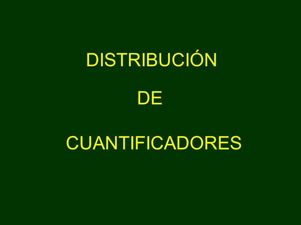 DISTRIBUCIÓN DE CUANTIFICADORES