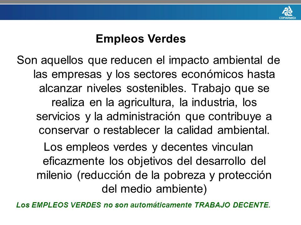Son aquellos que reducen el impacto ambiental de las empresas y los sectores económicos hasta alcanzar niveles sostenibles. Trabajo que se realiza en
