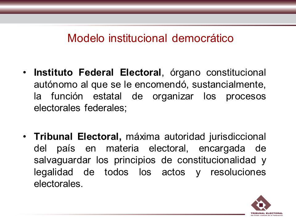 Órgano especializado del Poder Judicial en materia electoral.