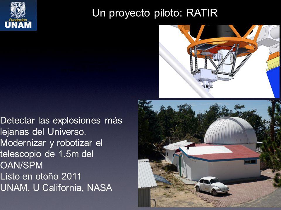 Un proyecto piloto: RATIR Detectar las explosiones más lejanas del Universo.