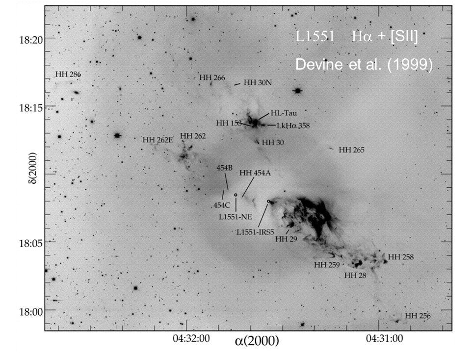 L1551 H + [SII] Devine et al. (1999)