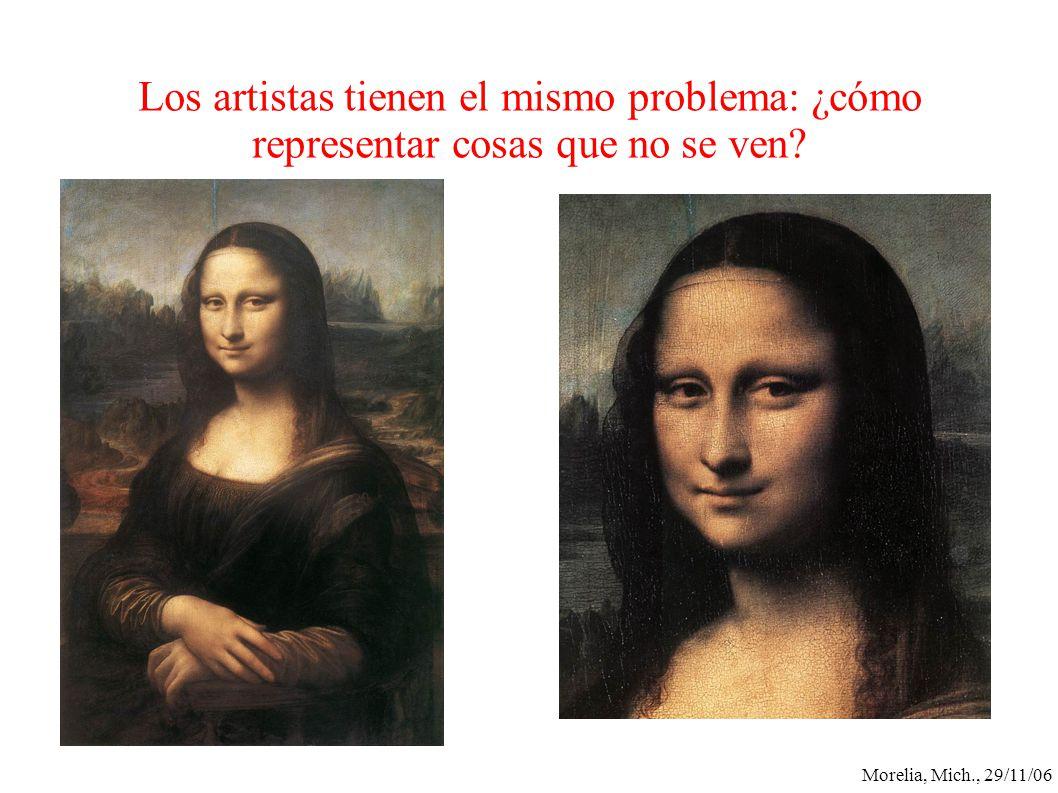 Morelia, Mich., 29/11/06 Los artistas tienen el mismo problema: ¿cómo representar cosas que no se ven?