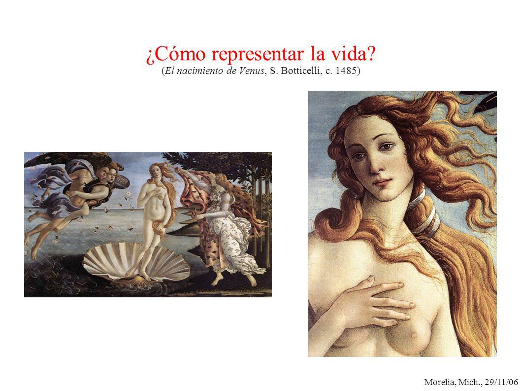 Morelia, Mich., 29/11/06 ¿Cómo representar la vida? (El nacimiento de Venus, S. Botticelli, c. 1485)