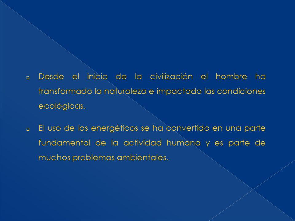 Desde el inicio de la civilización el hombre ha transformado la naturaleza e impactado las condiciones ecológicas.