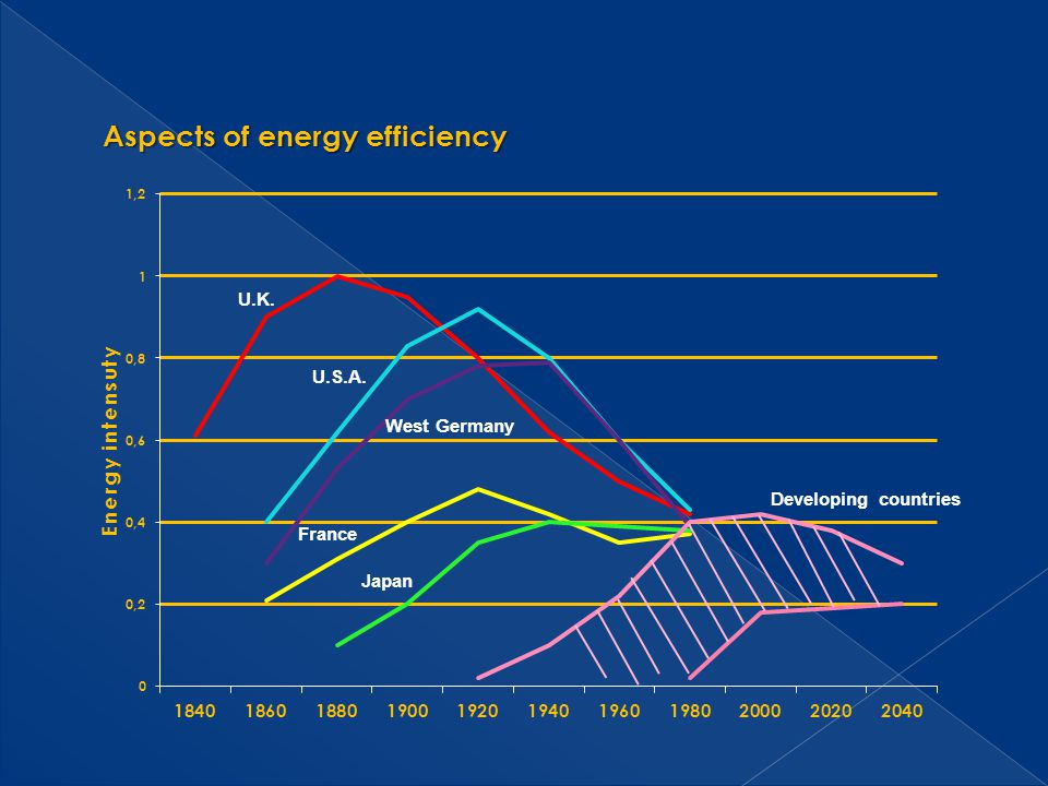 Aspects of energy efficiency U.K. U.S.A. West Germany France Japan Developing countries