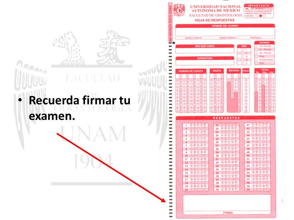 CONSULTAR AL SALIR LOS HORARIOS PUBLICADOS DE LAS ENTREVISTAS. Recuerda firmar tu examen.