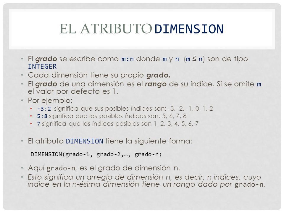 EJEMPLO PROGRAM Matrix_Multiplication IMPLICIT NONE INTEGER, PARAMETER :: SIZE = 100 INTEGER, DIMENSION(1:SIZE,1:SIZE) :: A, B, C INTEGER :: L, M, N, i, j, k READ(*,*) L, M, N .