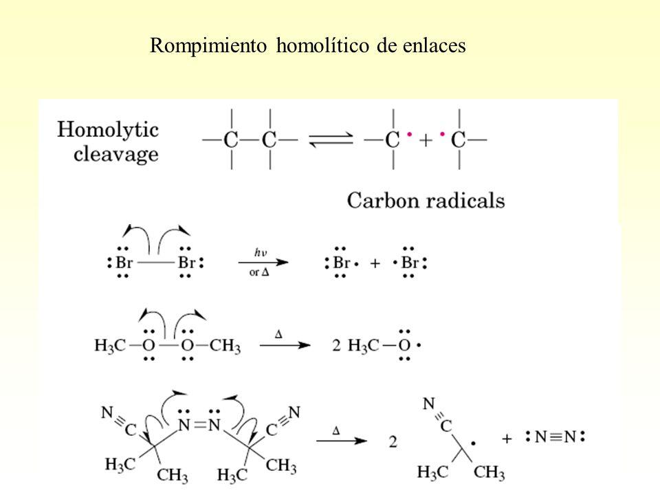 Rompimiento homolítico de enlaces
