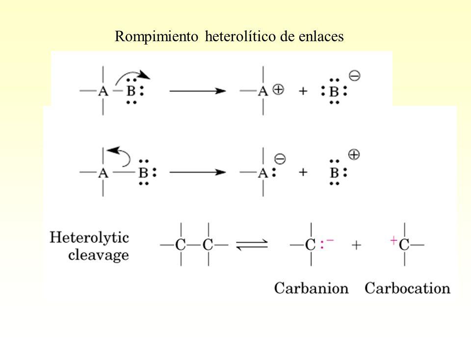 Rompimiento heterolítico de enlaces