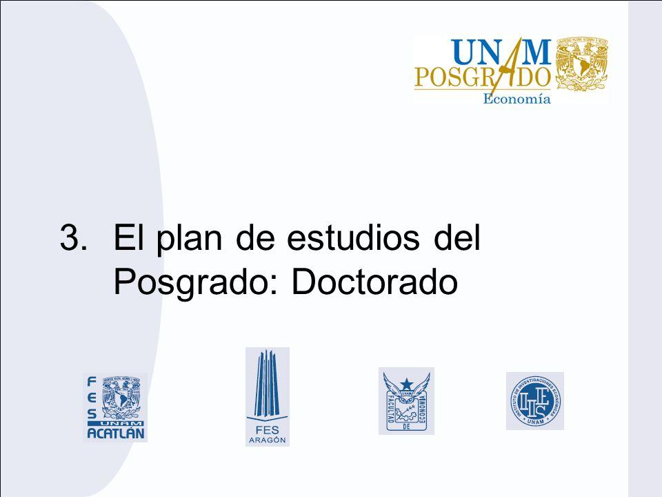 3.El plan de estudios del Posgrado: Doctorado