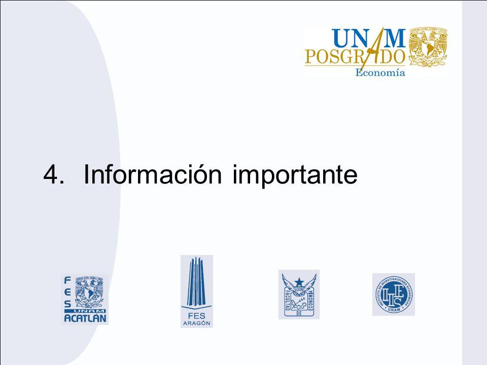 4.Información importante
