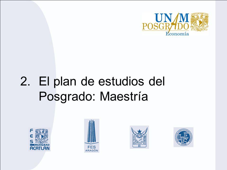 2.El plan de estudios del Posgrado: Maestría