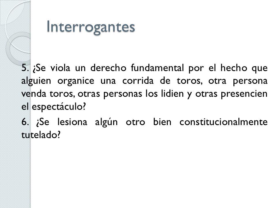 Interrogantes 5.