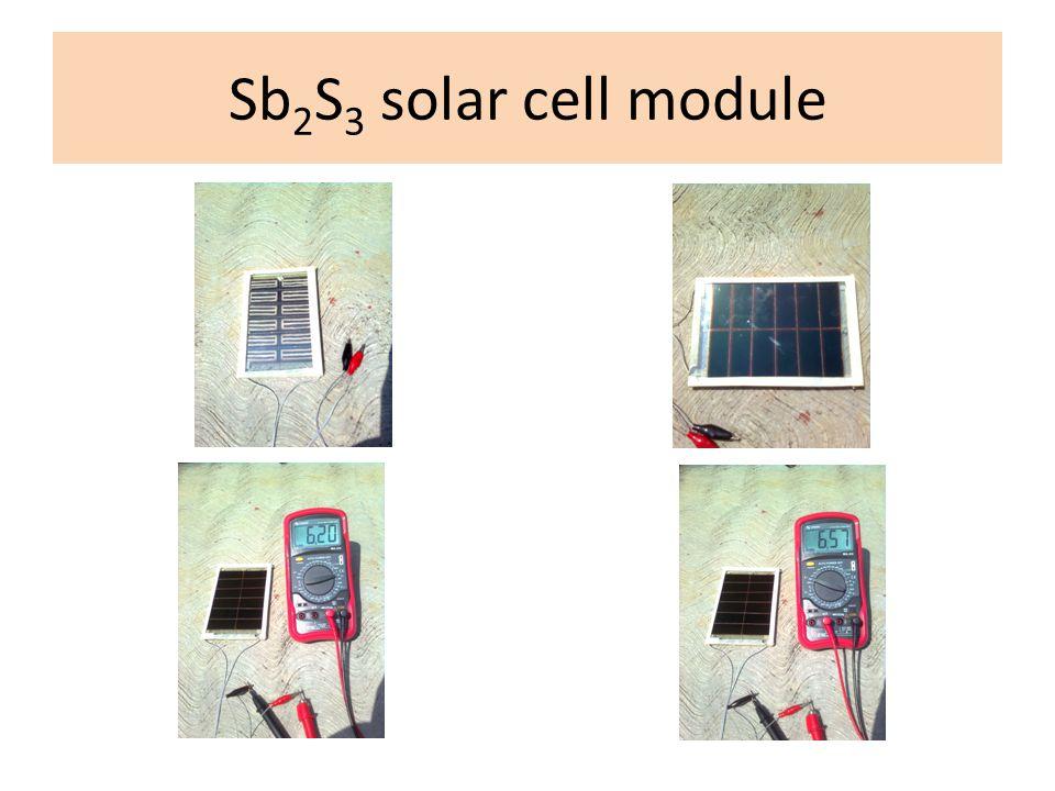 Sb 2 S 3 solar cell module