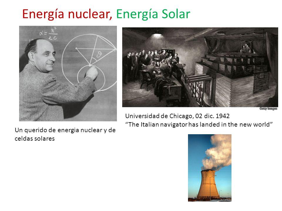 Un querido de energia nuclear y de celdas solares Energía nuclear, Energía Solar Universidad de Chicago, 02 dic. 1942 The Italian navigator has landed