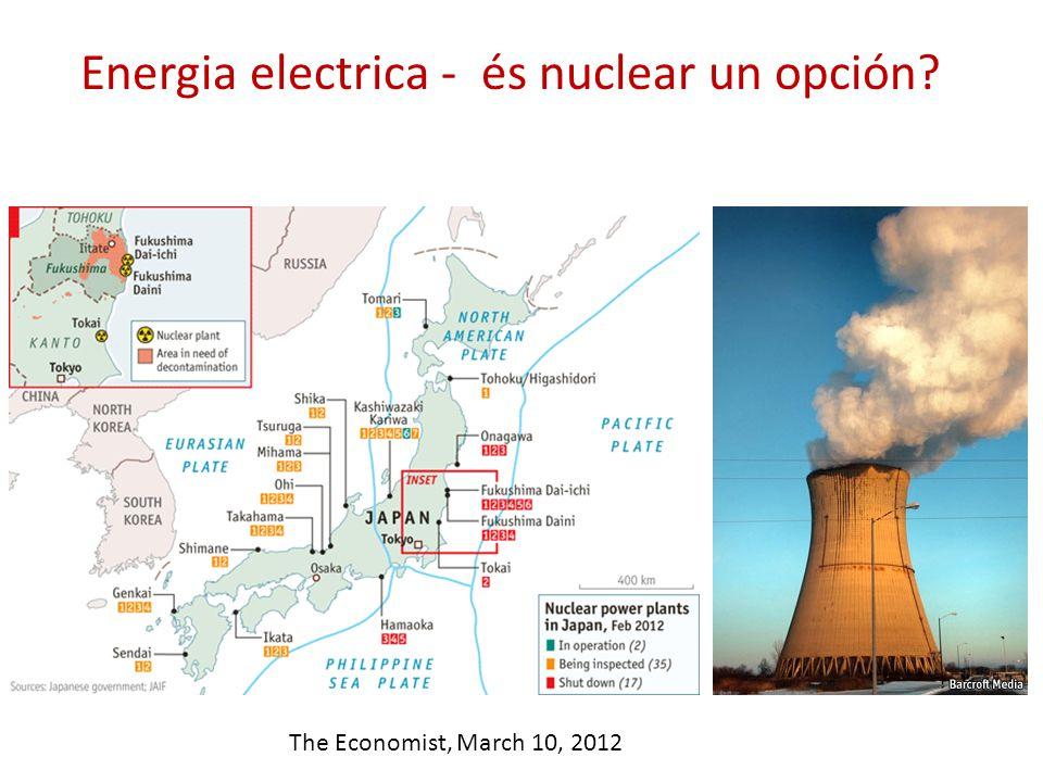 Energia electrica - és nuclear un opción? The Economist, March 10, 2012