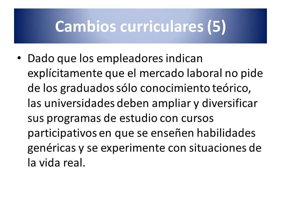 Dado que los empleadores indican explícitamente que el mercado laboral no pide de los graduados sólo conocimiento teórico, las universidades deben amp