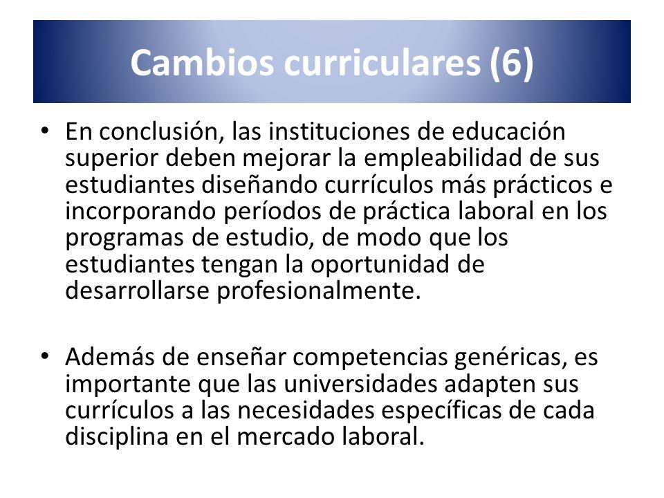 En conclusión, las instituciones de educación superior deben mejorar la empleabilidad de sus estudiantes diseñando currículos más prácticos e incorpor