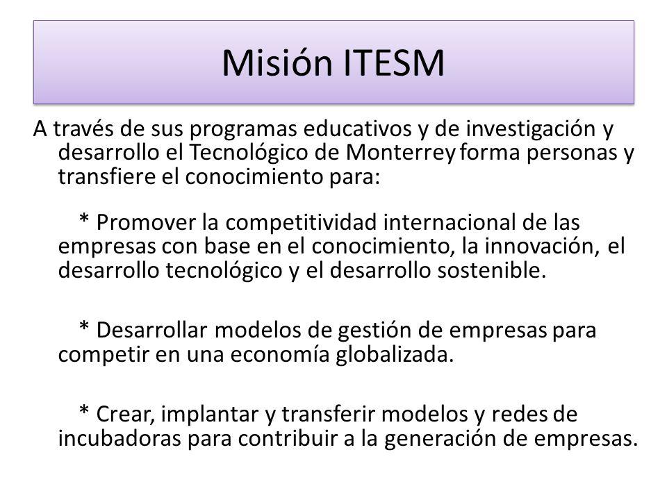 A través de sus programas educativos y de investigación y desarrollo el Tecnológico de Monterrey forma personas y transfiere el conocimiento para: * P