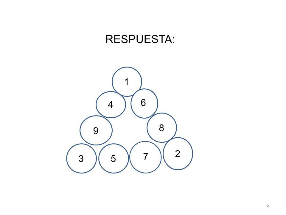 5 1 8 2 35 4 6 9 7 RESPUESTA: