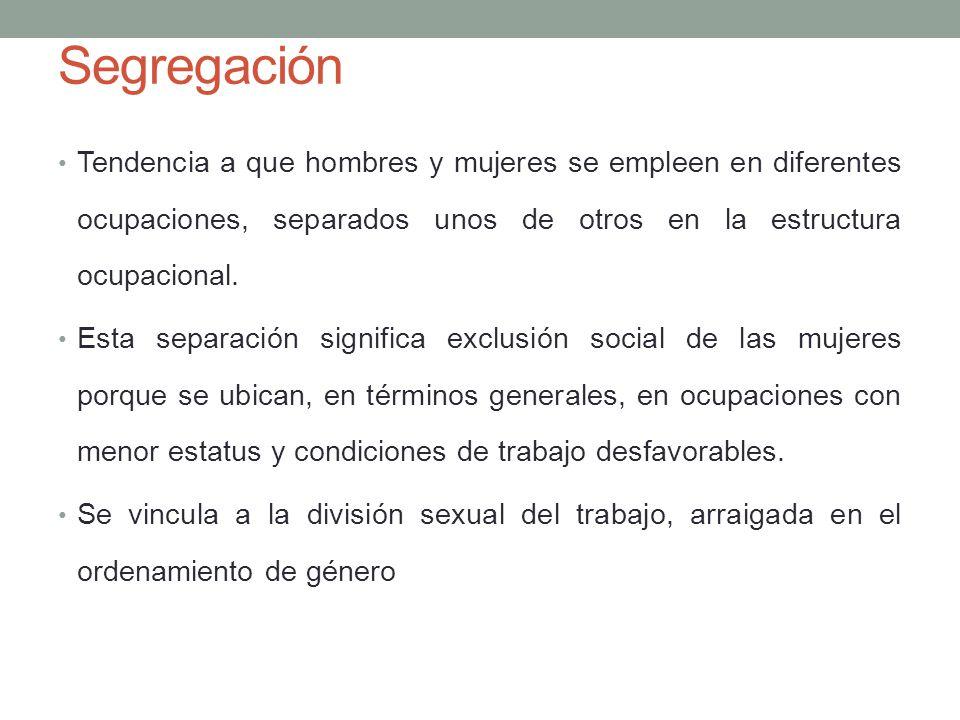 Segregación Vertical La segregación vertical afecta a la posición de los hombres y las mujeres en las jerarquías de la ciencia