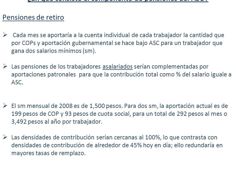 Diez Implicaciones del ASU ¿En qué consiste el componente de pensiones del ASU.