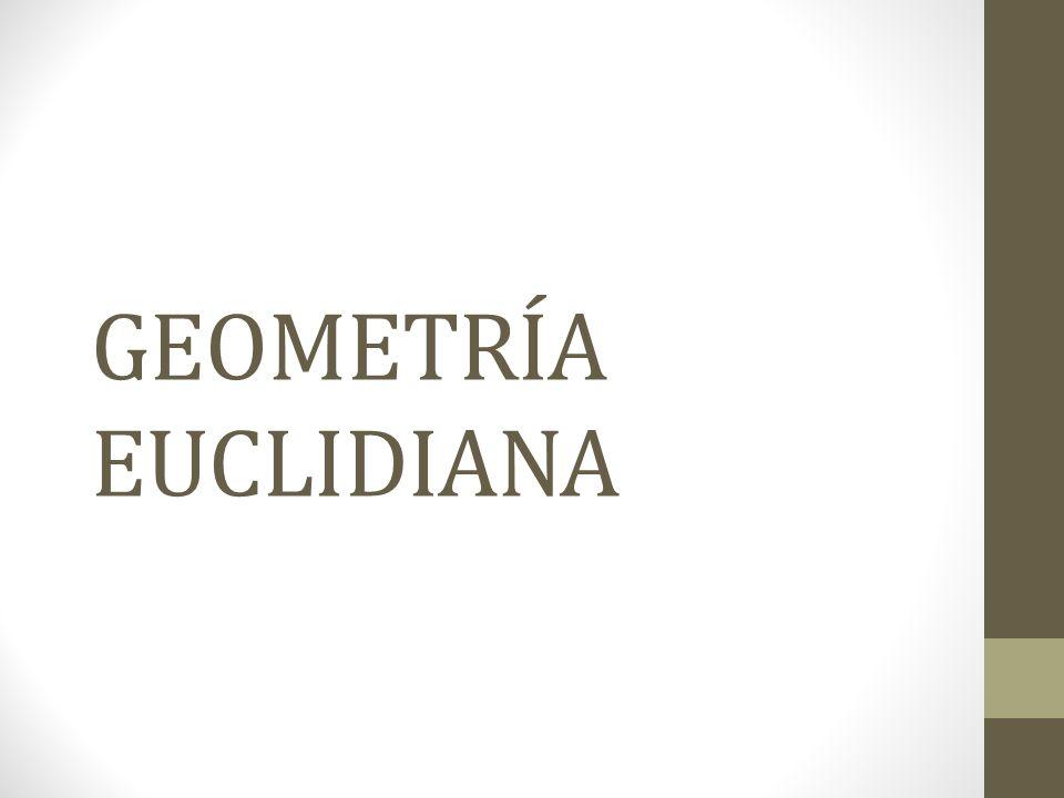GEOMETRÍA La ciencia de la medida de las extensiones (geo = tierra; metrón = medida).tierra La geometría euclidiana es aquella que estudia las propiedades del plano y el espacio tridimensional.plano