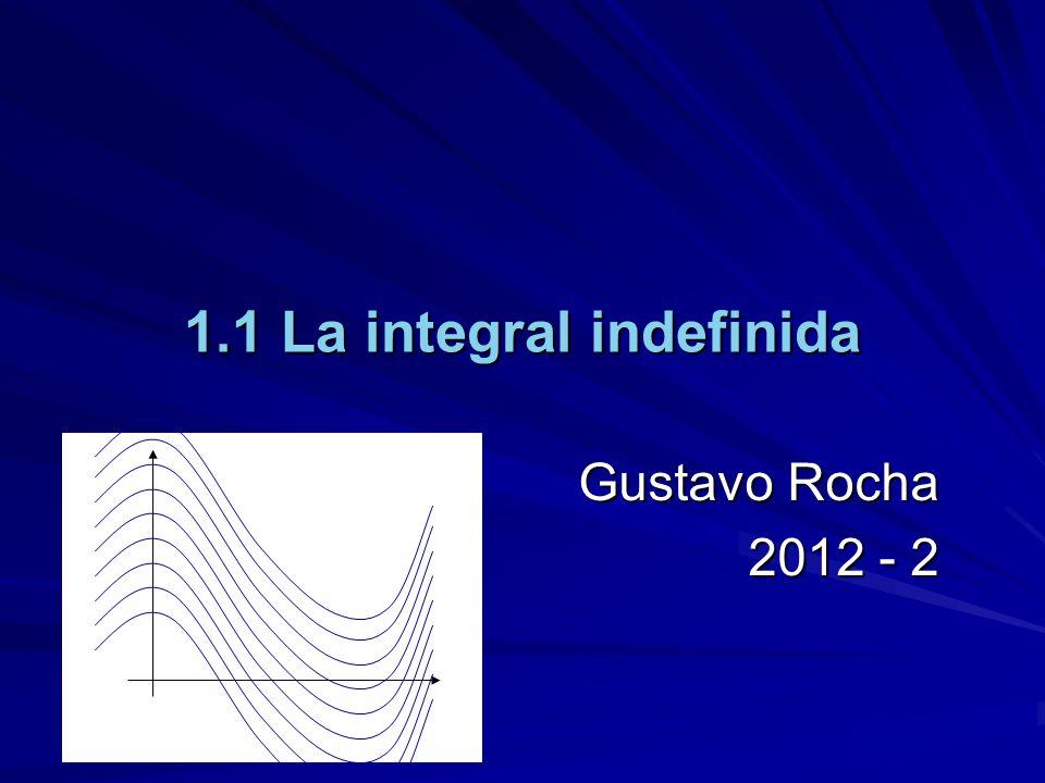 1.1 La integral indefinida Gustavo Rocha 2012 - 2