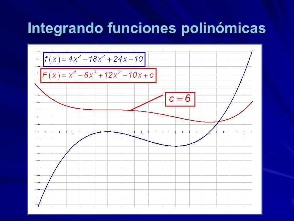 Integrando funciones polinómicas