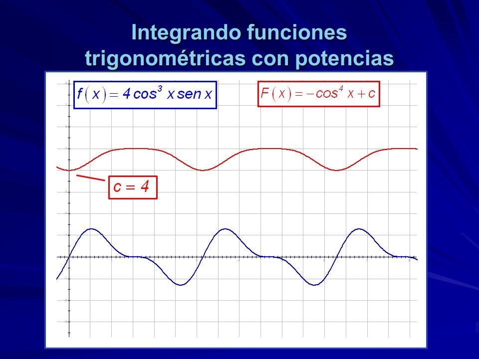 Integrando funciones trigonométricas con potencias