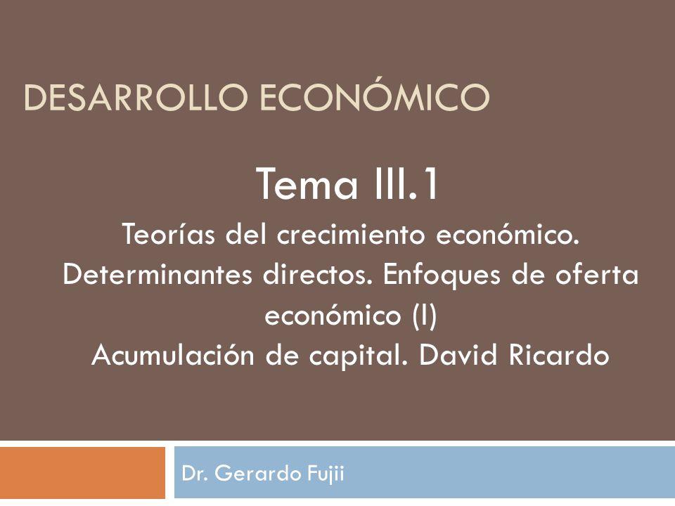 Acumulación de capital Relación entre ahorro e inversión.