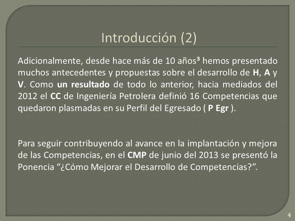 Adicionalmente, desde hace más de 10 años 3 hemos presentado muchos antecedentes y propuestas sobre el desarrollo de H, A y V.