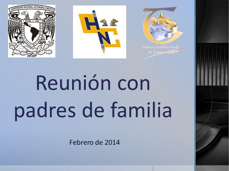 Reunión con padres de familia Febrero de 2014