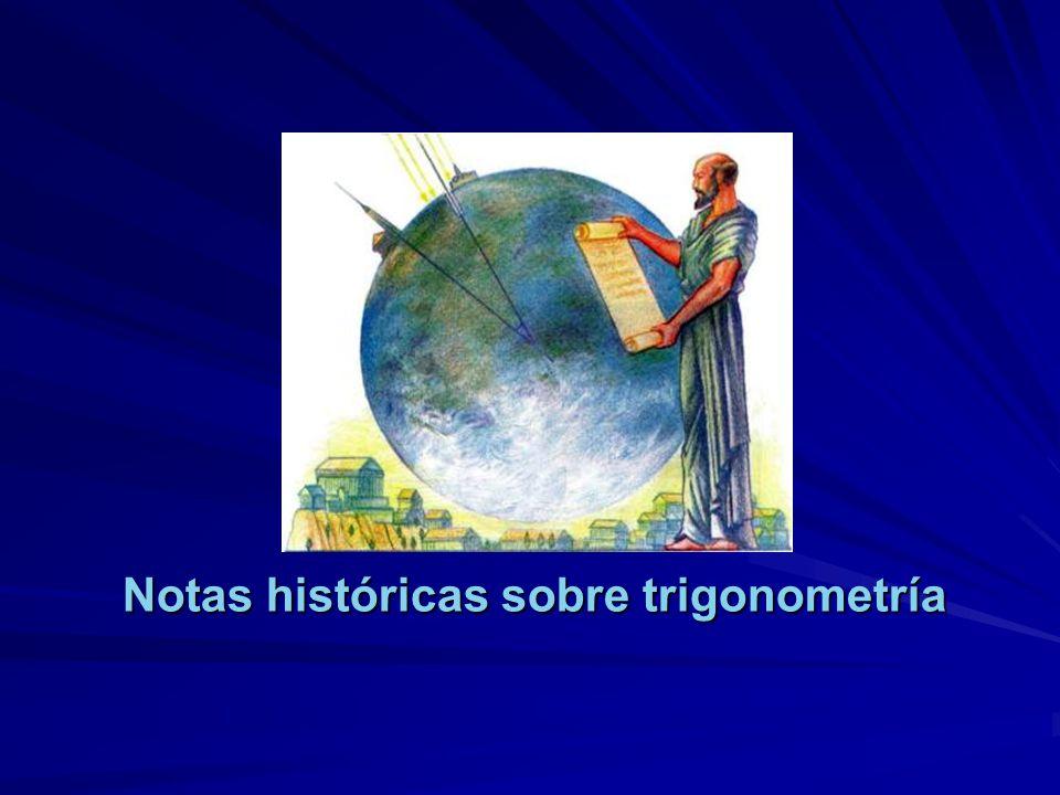 Notas históricas sobre trigonometría